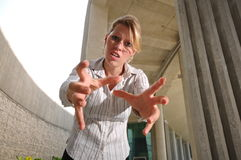 Corporate Caucasian Female Executive feeling angry Stock Images