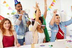 Happy team having fun at office party Royalty Free Stock Photo