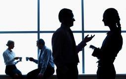Corporate chatting Stock Photo