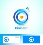 Corporate circle heart love logo Royalty Free Stock Photos
