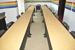 CORPORATE COACHING TRAINING ROOM. View of a training room coaching practical, equipped and flexible adapted according to capacity in order to benefit from the royalty free stock photography