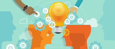Corporate company innovation collaboration people. Merger idea stock illustration