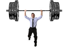 Free Corporate Composite Of Young Attractive Businessman Power Lifting Heavy Dumbbell Weights Royalty Free Stock Images - 78514709