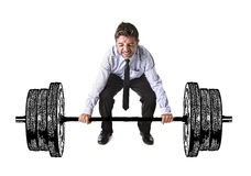 Free Corporate Composite Of Young Attractive Businessman Power Lifting Heavy Dumbbell Weights Royalty Free Stock Photos - 78514918