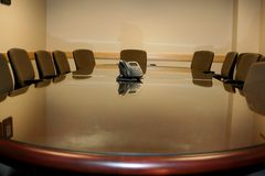 Corporate Conference Room. Conference room in a large company Royalty Free Stock Images