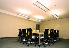Corporate Conference room II. Bright new corporate conference room royalty free stock photography