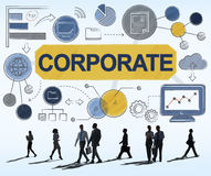 Corporate Connection Collaboration Teamwork Concept. Business Corporate People Connection Collaboration Teamwork Stock Photography