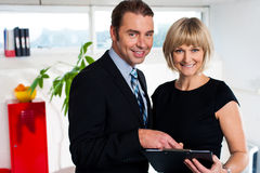 Corporate couple reviewing weekly schedule Stock Photography