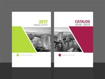 Cover design annual report and catalog stock illustration