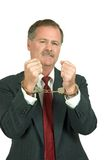 Corporate Crime. Photo of a guy about to do the time for the crime stock images