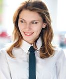 Corporate culture models (Young businesswoman of the year) Stock Photos