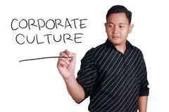 Corporate Culture, Motivational Business Words Quotes Concept stock image