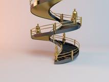 Corporate 3D ladder Stock Photos
