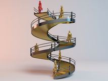 Corporate 3D ladder Stock Image