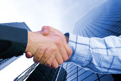 Corporate deal - blue Stock Photo