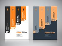 Corporate design of brochure cover vector illustration