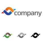 Corporate design element. A very modern, fresh and trendy design element for your company, fully editable Stock Photography