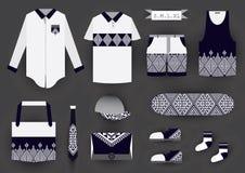 Corporate design fashion set template. Stock Photos
