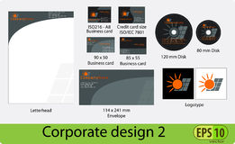 Corporate design pack Royalty Free Stock Photo