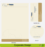 Corporate design pack Stock Image