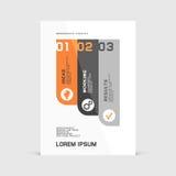 Corporate design of paper flier or brochure cover. Vector illustration vector illustration