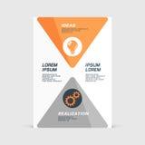 Corporate design of paper flier or brochure cover. Vector illustration royalty free illustration