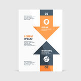 Corporate design of paper flier or brochure cover. Vector illustration stock illustration
