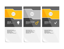 Corporate design of paper fliers or web banners Royalty Free Stock Images