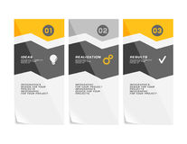 Corporate design of paper fliers or web banners Stock Photos