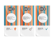 Corporate design of paper fliers or web banners vector illustration