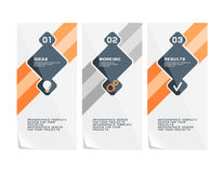Corporate design of paper fliers or web banners stock illustration