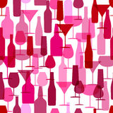 Corporate design. seamless pattern image of wine bottles and wine glasses. for package Royalty Free Stock Images