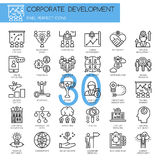 Corporate development , thin line icons set Stock Image