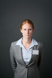 Corporate Employee with Name Tag Royalty Free Stock Photos