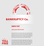 Corporate empty leaflet template. Design of corporate empty leaflet template related to economy/politics Royalty Free Stock Photo