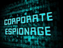 Corporate Espionage Covert Cyber Hacking 3d Illustration. Shows Commercial Business Fraud Or Professional Thief Threat stock illustration