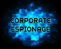 Corporate Espionage Covert Cyber Hacking 2d Illustration. Shows Commercial Business Fraud Or Professional Thief Threat vector illustration