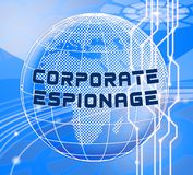 Corporate Espionage Covert Cyber Hacking 3d Illustration. Shows Commercial Business Fraud Or Professional Thief Threat royalty free illustration
