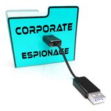 Corporate Espionage Covert Cyber Hacking 3d Rendering. Shows Commercial Business Fraud Or Professional Thief Threat royalty free illustration