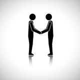 Corporate executives, businessmen or friends greeting hand shake Royalty Free Stock Photos