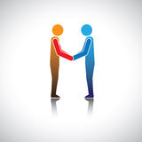 Corporate executives, businessmen or friends greeting hand shake Royalty Free Stock Photo