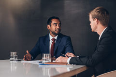 Corporate executives at work in the boardroom Stock Photography