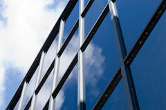 Corporate facade. Exterior shot of a modern, corporate office building Royalty Free Stock Image