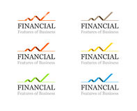 Corporate Financial Or Business Logo Template Set Stock Images