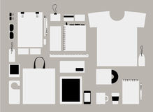 Corporate flat identity mock-up template for your Royalty Free Stock Images