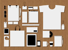 Corporate flat identity mock-up template for your Stock Image