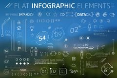 Corporate Flat Infographic Elements Collection. Corporate Infographic Elements is an excellent collection of vector graphs, charts and diagrams royalty free illustration