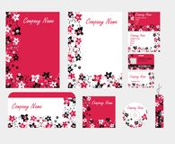 Corporate floral red black style Royalty Free Stock Images