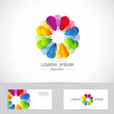 Corporate flower logo business Royalty Free Stock Photo