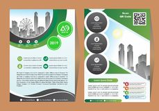 Corporate flyer, layout template. with elements for picture. Corporate flyer, layout template. with elements and placeholder for picture royalty free illustration
